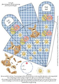 Easter Icicle Gift Box Blue  on Craftsuprint designed by Di Simpson -