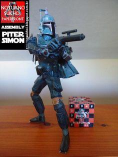 Noturno  Sukhoi: Star Wars Boba Fett 2ªversion_Papercraft