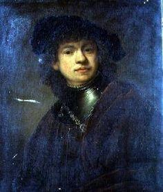 The artwork Self Portrait - Rembrandt, Hamerszoon van Rijn we deliver as art print on canvas, poster, plate or finest hand made paper. Rembrandt Portrait, Rembrandt Paintings, Portrait Art, Vincent Van Gogh, Dutch Artists, Dutch Golden Age, European Paintings, Dutch Painters, Gravure