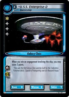 """""""•U.S.S. Enterprise-D, Battleship"""" [13 C 117] from the STAR TREK CUSTOMIZABLE CARD GAME 2nd Edition by DECIPHER 