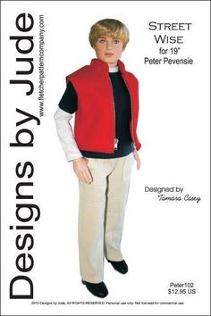 Suit Doll Clothes Sewing Pattern for Peter Pevensie /& Mortimer Mort Tonner