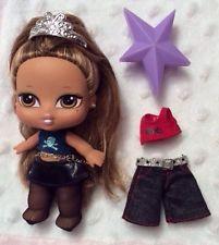 "Yasmin Tiara Bratz Baby Babyz Doll 5"" 2004 MGA Star Brush Brunette Rooted Hair"