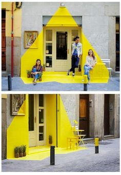 Yellow Light Effect On Street