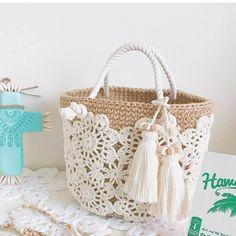 Trendy Ideas For Crochet Lace Bag Handbags Doilies Love Crochet, Beautiful Crochet, Crochet Lace, Doilies Crochet, Crochet Handbags, Crochet Purses, Crochet Designs, Crochet Patterns, Lace Bag