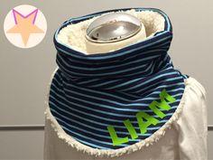 Kinder-Hals-Socke *mit Wunschname* von Moly's Zauberwelt auf DaWanda.com