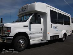 We did the lettering for Lake Bible's bus.