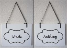 Custom names: 2 Signs Mr Mrs / Your First Name Custom  Wedding by Frameyourstory,