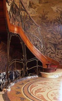 Rampes d escaliers art nouveau