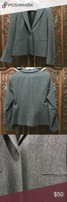 Theory gray blazer size 6 Theory gray tweed-like blazer, size 6, worn but no flaws. Theory Jackets & Coats Blazers