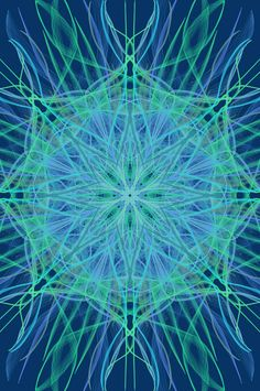 Mandala art using mirrorgraph, blue, indian, symmetrical, central