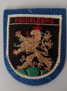 Heidelberg Germany Coat Of Arms Patch Sew On Travel Souvenir Collectible  #Unbranded