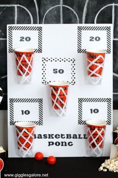 March Madness basketball party giggles a lot Diyprojectgard . - March Madness basketball party giggles a lot Diyprojectgard … – March Madness - Sleepover Party Games, Backyard Party Games, Diy Party Games, Outdoor Party Games, Garden Games, Game Party, Picnic Games, Casino Party Games, Adult Party Games