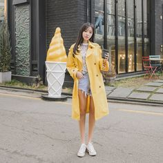 #envylook Tie-Waist Double-Breasted Trench Coat #koreanfashion #koreanstyle #kfashion #kstyle #stylish #fashionista #fashioninspo #fashioninspiration #inspirations #ootd #streetfashion #streetstyle #fashion #trend #style