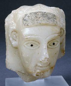 sculpture; Ancient South Arabian; Yemen; Yemen. Sculpted human head (male or…