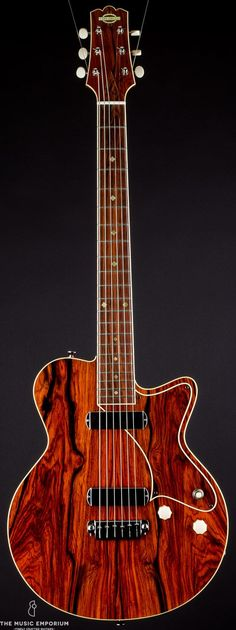 Yanuziello Cocobolo guitar . --- https://www.pinterest.com/lardyfatboy/