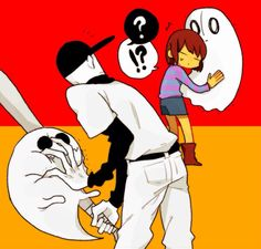 Frisk meets The Batter... I can only imagine what happens next.