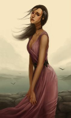 Ashara Dayne by scrapchap. Ashara Dayne was a noblewoman of House Dayne, the sister of the famous knight Ser Arthur Dayne. She committed suicide shortly after the end of Robert's Rebellion. #ASOIAF #GoT #HouseDayne