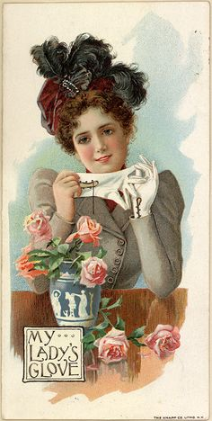 Publicités anciennes (Vintage ads): Foster's Hook Gloves, J. Edward Bird & Co (Library of Congress 1899)