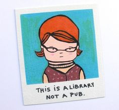 Librarian magnet by Simply Cute by Karin on Etsy. $6.00
