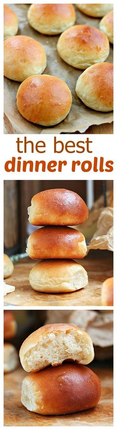 The best homemade dinner rolls (recipe from scratch) Soft, buttery, tender and warm, straight out of the oven – these are the best dinner rolls! Once you try this dinner rolls recipe you'll never want to go back to store bought dinner rolls! Homemade Dinner Rolls, Dinner Rolls Recipe, Frozen Dinner Rolls, Bread Recipes, Cooking Recipes, Good Food, Yummy Food, Gula, Bread And Pastries