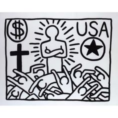 Exposition Keith Haring - Musée d'Art Moderne de Paris.