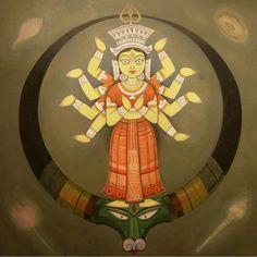 by artist jamini roy Durga Painting, Madhubani Painting, Indian Art Paintings, Easy Paintings, Jamini Roy, Bd Art, Indian Art Gallery, Indian Folk Art, Historical Art