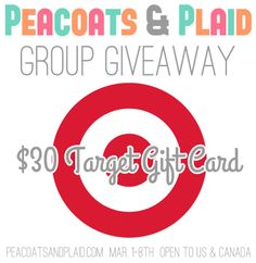 $30 Target Gift Card giveaway at Peacoats & Plaid