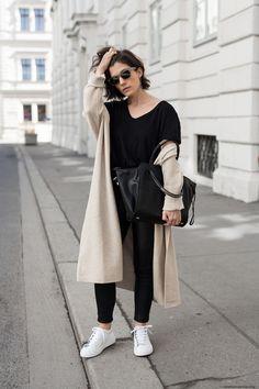 Leather + Linen: Liebeskind Sanaa Tote & Mango Cardigan I More on viennawedekind.com