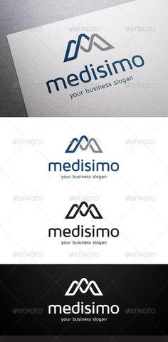 Medisimo M Letter Logo — Vector EPS #m #multi media • Download here → https://graphicriver.net/item/medisimo-m-letter-logo/5455303?ref=pxcr