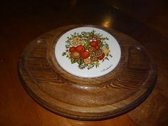 Cheese and cracker serving tray, by Goodwood, spice pattern, 1970's