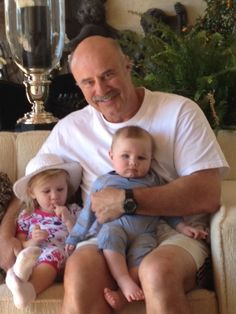 Dr. Phil and grandchildren Avery and London.
