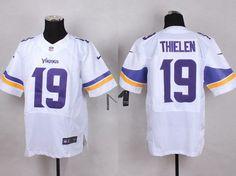 Men's Minnesota Vikings #19 Adam Thielen 2013 Nike White Elite Jersey