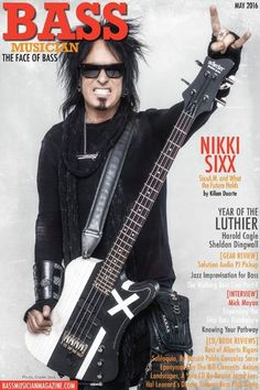 Nikki Sixx - Bass Musician Magazine Cover [United States] (May 2016)