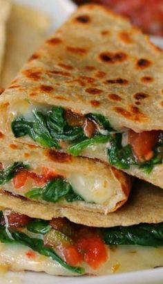 Spicy Spinach Quesadillas