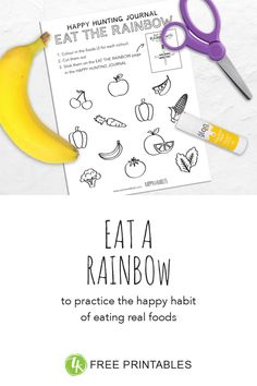 Real foods provide the building blocks for our bodies and brains. Use the free Eat The Rainbow activity and colouring sheet to teach kids about the importance of this happy habit in an enjoyable and accessible way. Real Foods, Real Food Recipes, Rainbow Pages, Rainbow Activities, Eat The Rainbow, Help Kids, Our Body, Teaching Kids, Colouring