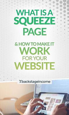 How to make a squeeze page work for the benefit of your website! Marketing Pdf, Online Marketing, Digital Marketing, Internet Marketing Course, Squeeze Page, Make It Work, Online Business, Benefit, Website