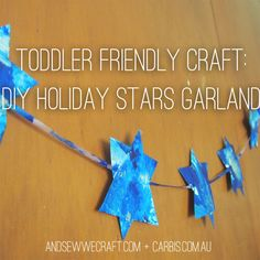 Hey everyone! It's not long till Hanukkah, and I thought I would show you how we've made this star garland to decorate above our windows and on the walls. We actually use this decoration for heaps of the Jewish/Christian feasts, and they would be lovely for other holidays like Christmas, or even birthdays, so they're [...]