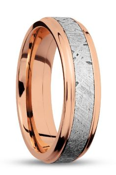 Jewelry & Watches Engagement & Wedding Titanium 14k Yellow Inlay Flat 8mm Wedding Ring Band Size 8.50 Precious Metal 100% High Quality Materials