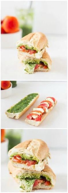 This Caprese Sandwich takes a twist by being toasted with melted mozzarella, and creamy parsley pesto. The sandwich is perfect for an everyday lunch or a picnic! | http://jessicainthekitchen.com