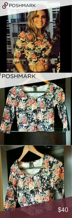 I just added this listing on Poshmark: Rose detailed crop top can fit an XS-S. #shopmycloset #poshmark #fashion #shopping #style #forsale #Tops