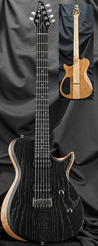 Kiesel Guitars SCB6H Single-Cutaway Bevel-Top Guitar with Hipshot Bridge Serial Number 129023