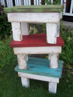 Cute benches out of scrap wood!