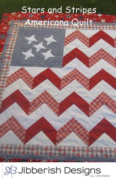 The Stars and Stripes Americana Quilt Pattern on etsy