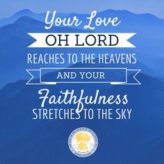 Your love oh Lord!