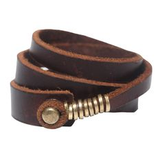Fab.com | Wrap Bracelet Brown? Love this simple leather design. You can close with any 8-10mm pearl or gemstone.
