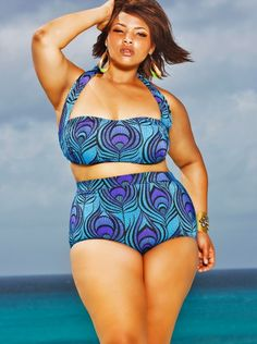 "b8a5cd1a8e0 Monif C ""Sao Paulo"" Plus Size Bikini in Blue Plus Size Bikini"
