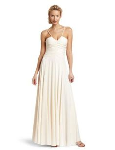 HALSTON HERITAGE Women's Halter Gown