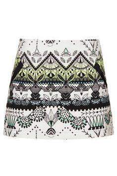 Folk print skirt- Topshop UK