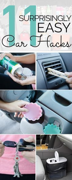 awesome 11 Awesome Hacks To Keep Your Car Clean and Organized...  Stuff to Try