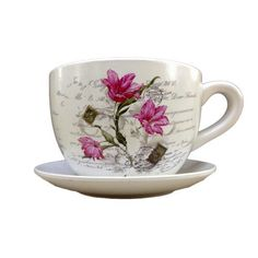 Gifts & Decor Flower Teacup Saucer Decorative Garden Planter, http://www.amazon.com/dp/B00DYZKN3W/ref=cm_sw_r_pi_awdm_YEvQwb0KJKATT